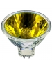 Ushio 1000580 - 50 Watt - MR16 - 12 Volt - Popstar - Yellow - FNC Spot - Front Glass Cover - 4,000 Life Hours